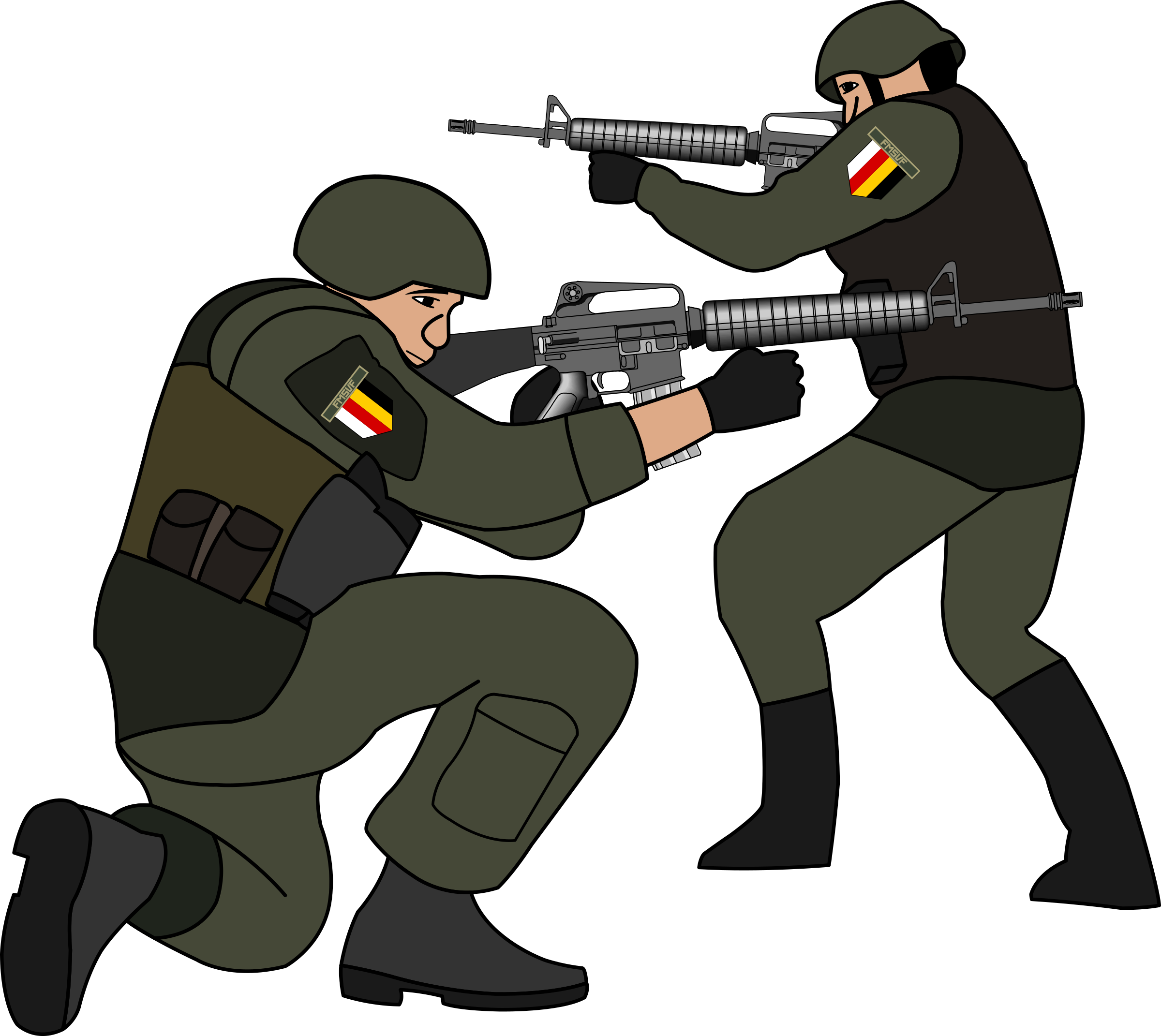 Soldier clipart. Soldiers in battle big