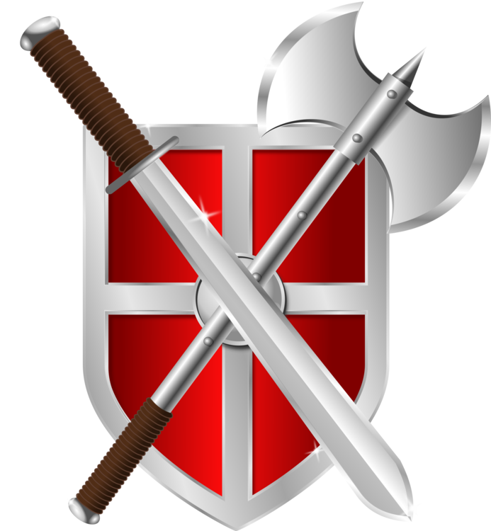 Fight clipart sword. Weapon battle axe knightly
