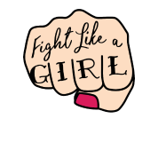 Fight like a girl png. Women s tri blend