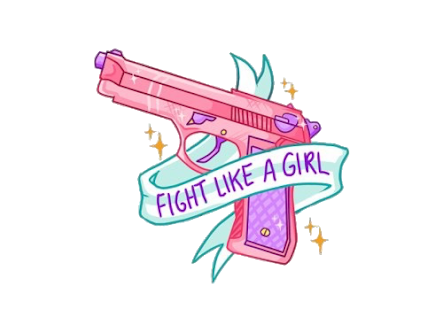Fight like a girl png. Sticker tumblr by anszixl