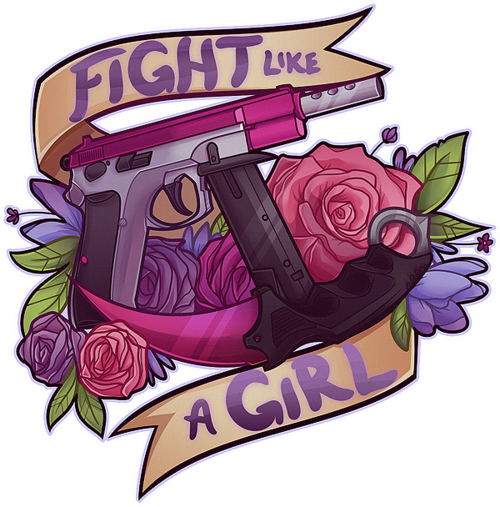 fight like a girl png