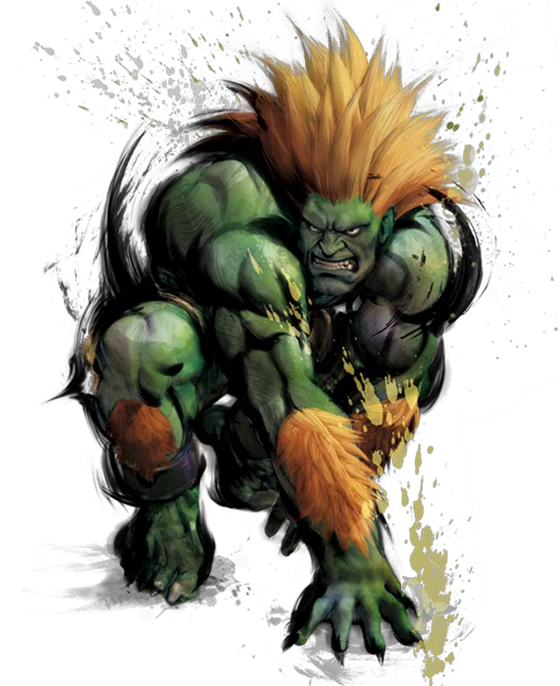 Fight street fighter png. Blanka artwork fighting game