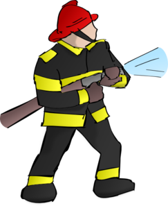 Fire fighter clip art. Firefighter clipart image royalty free stock
