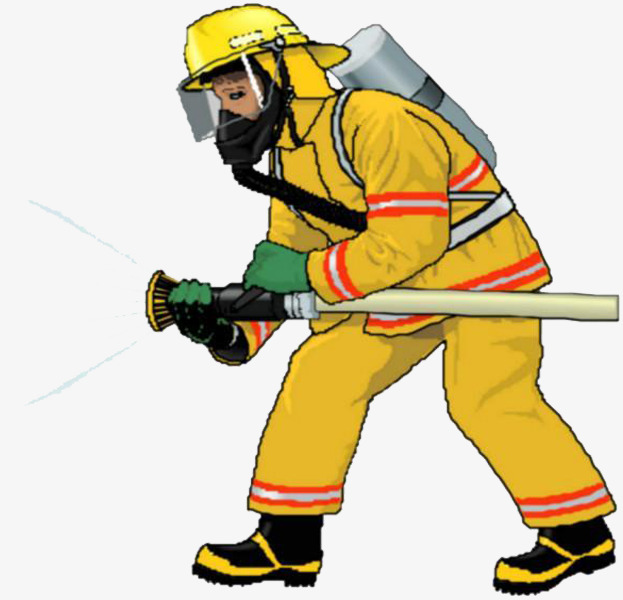 Firefighters in yellow fireman. Fighter clipart firefigher image freeuse library