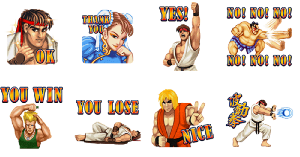 Fighter clipart jealous. Hadoken the line stickers