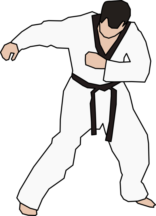 Fighter clipart kung fu fighting. Taekwondo karate martial arts