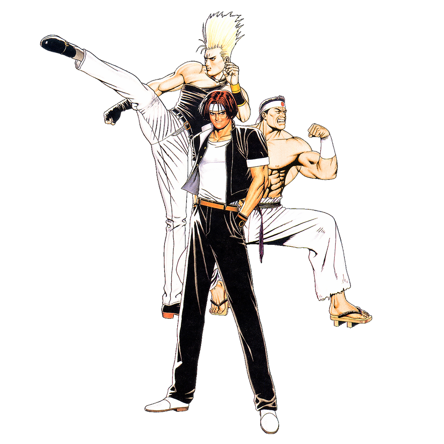 Fighter drawing action hero. King of fighters team