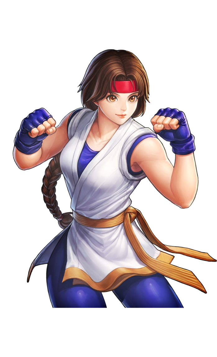 Fighter drawing action hero. King of fighters yuri