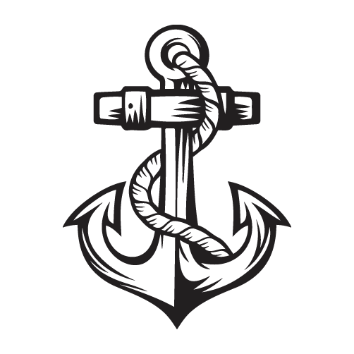 Fighter drawing anchor. Decal style photomal com