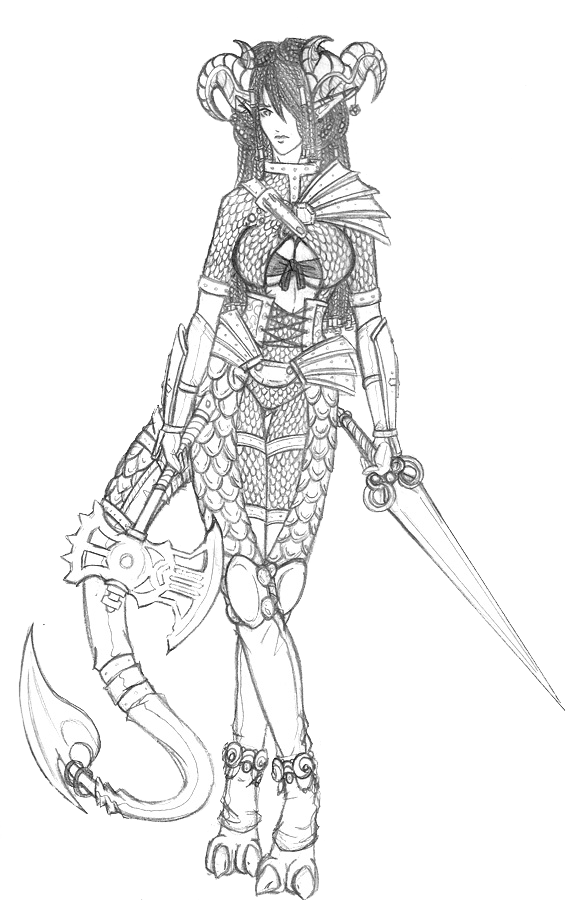 Fighter drawing arm. Go tiefling by aerpenium