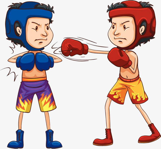 Fighting clipart boxing match. The boys and combat