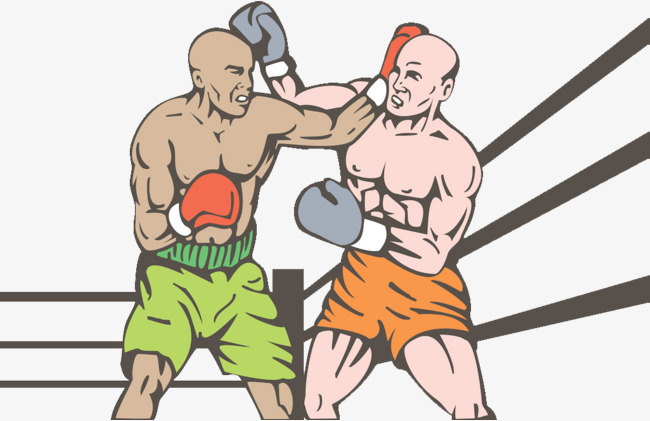 Fighting clipart boxing match. Two bald boxers game