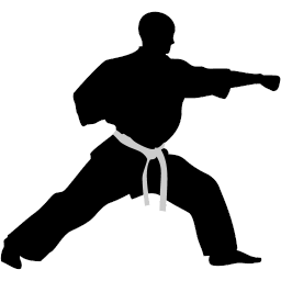Martial arts clipart black and white. For free download use