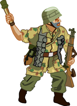 Fighting clipart war victory. Soldier computer icons infantry