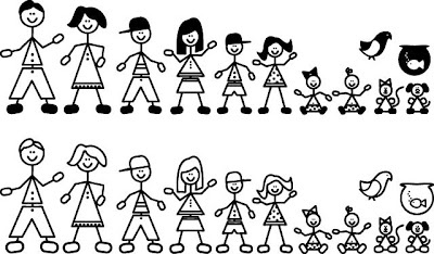 Figure clipart 7 person family. Clip art stick