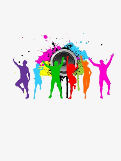 Figure clipart colorful. Color dancing silhouette figures