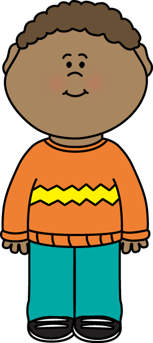 Figure clipart excitement. Kid wearing a sweater