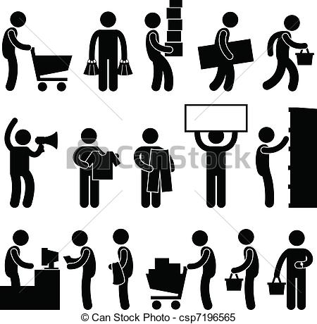 Figure clipart human. Dinosaur man people shopping