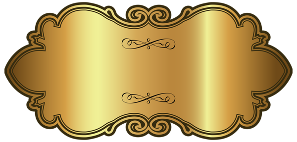 Png label. Golden luxury template clipart