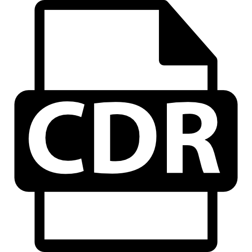File vector cdr. Format extension icons free