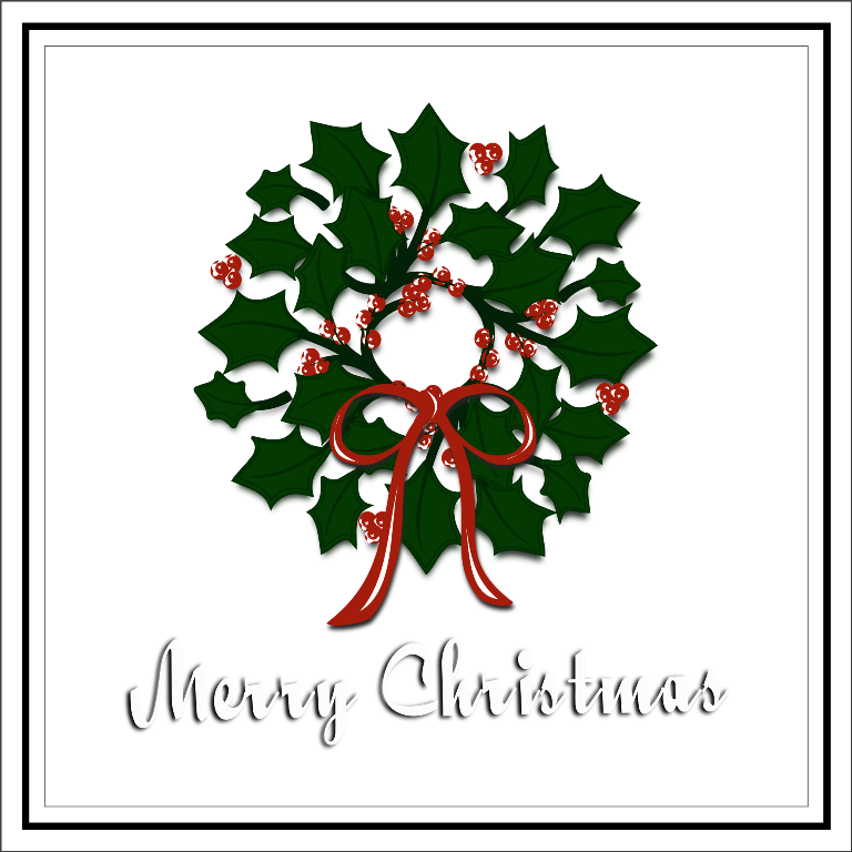 File vector merry christmas. Inkscape wreath free svg