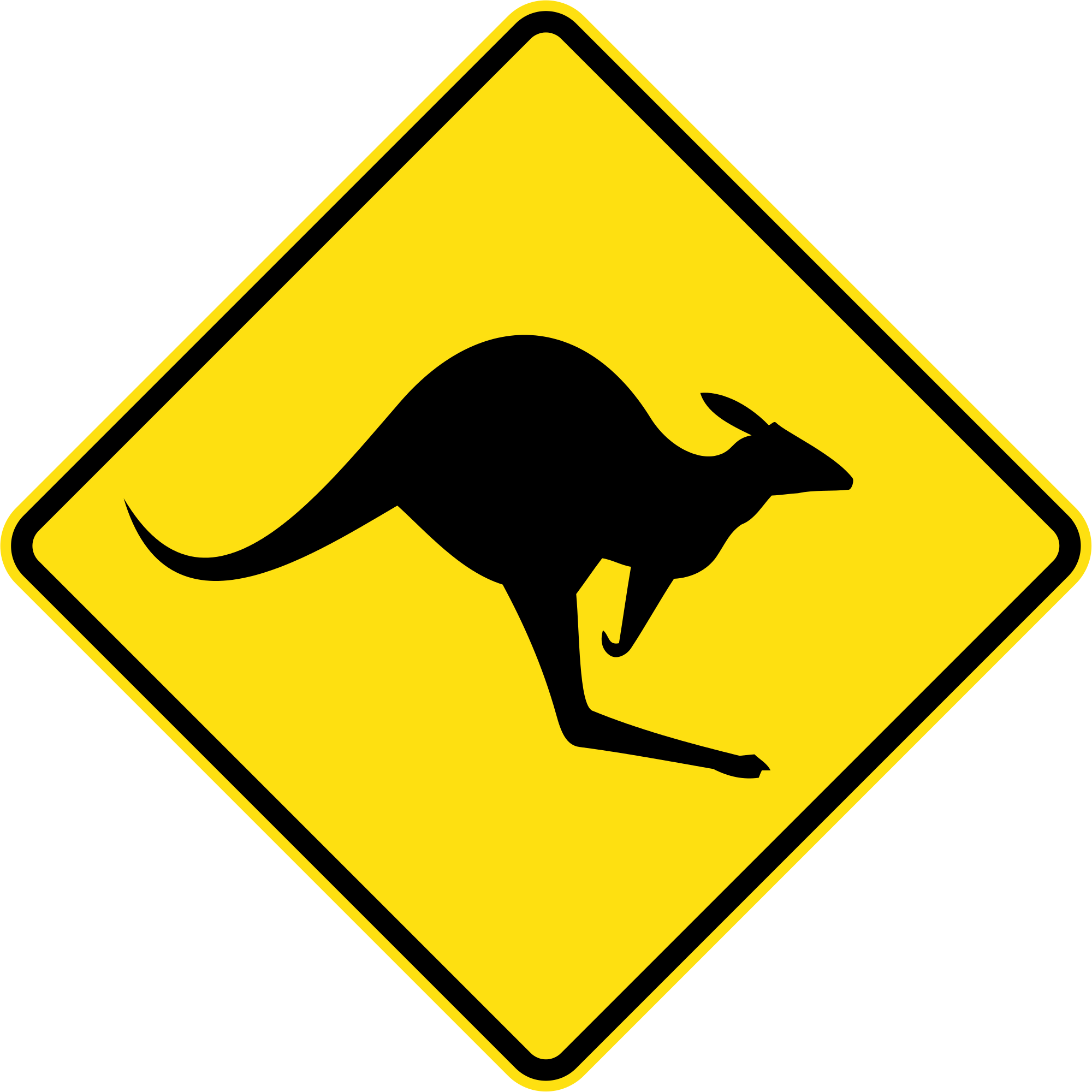 File vector road. Australia sign w svg