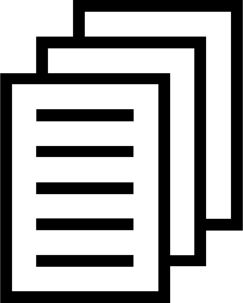 Files png. Stack papers svg icon