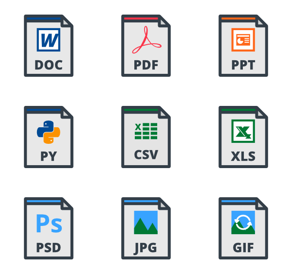 Filetype icons png. File type free vector