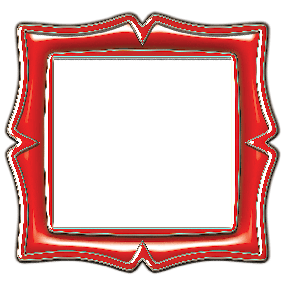 Filigree borders png. Red oval curlicue frame