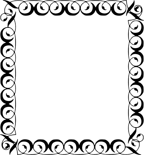 Simple filigree border png. File square decorative frame