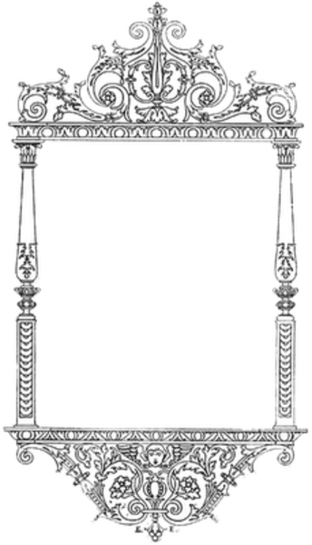 Filigree borders png file. Frame silver free images