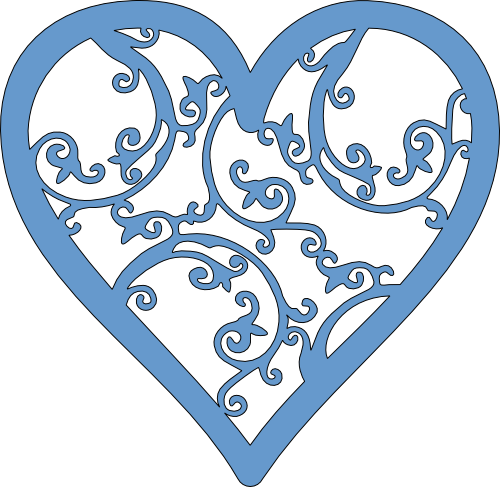 Filigree clipart star. Heart