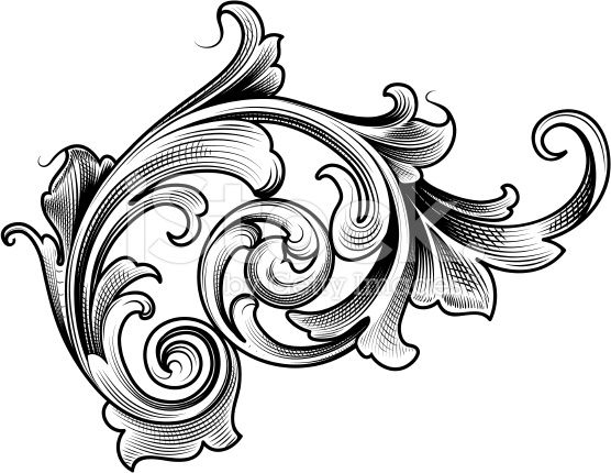 Filigree clipart scrollwork. Designed by a hand