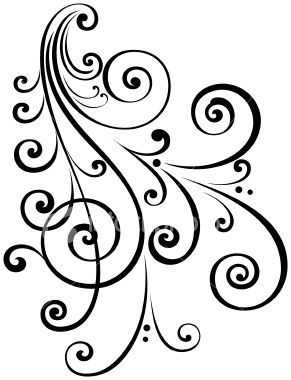 Filigree clipart scrollwork. A fancy vectorized ornate