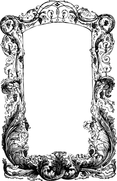 Filigree frame png. Decorative clip art at