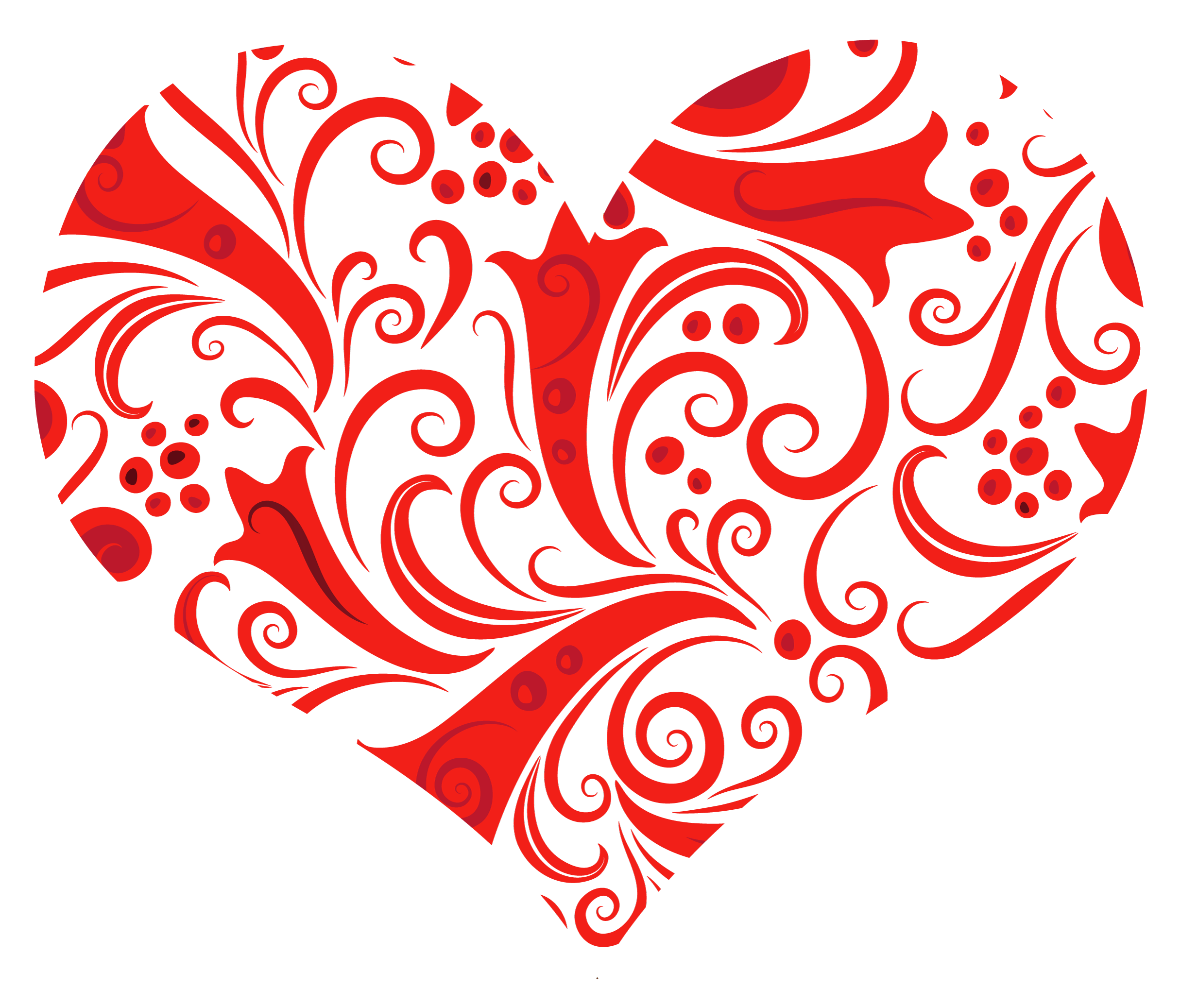 Red filigree images png