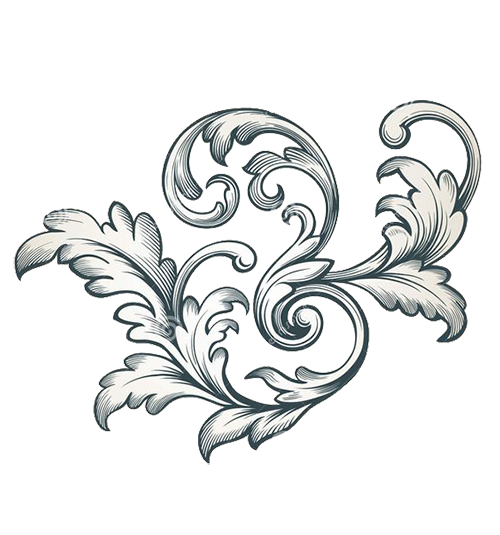 Floral scroll png. Filigree stock photography lace