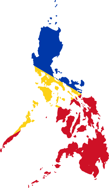 Filipino drawing american flag. Luzviminda the geographical division