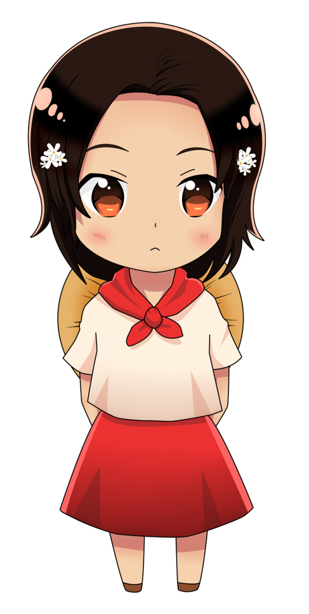 Filipino drawing anime. Chibi philippines colored by