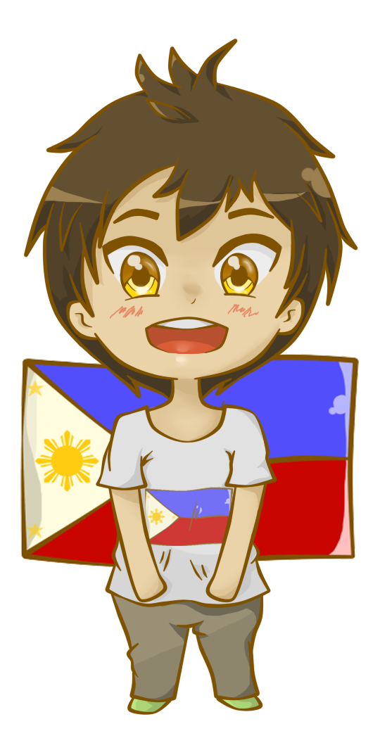 Filipino drawing cartoon. Flag of the philippines