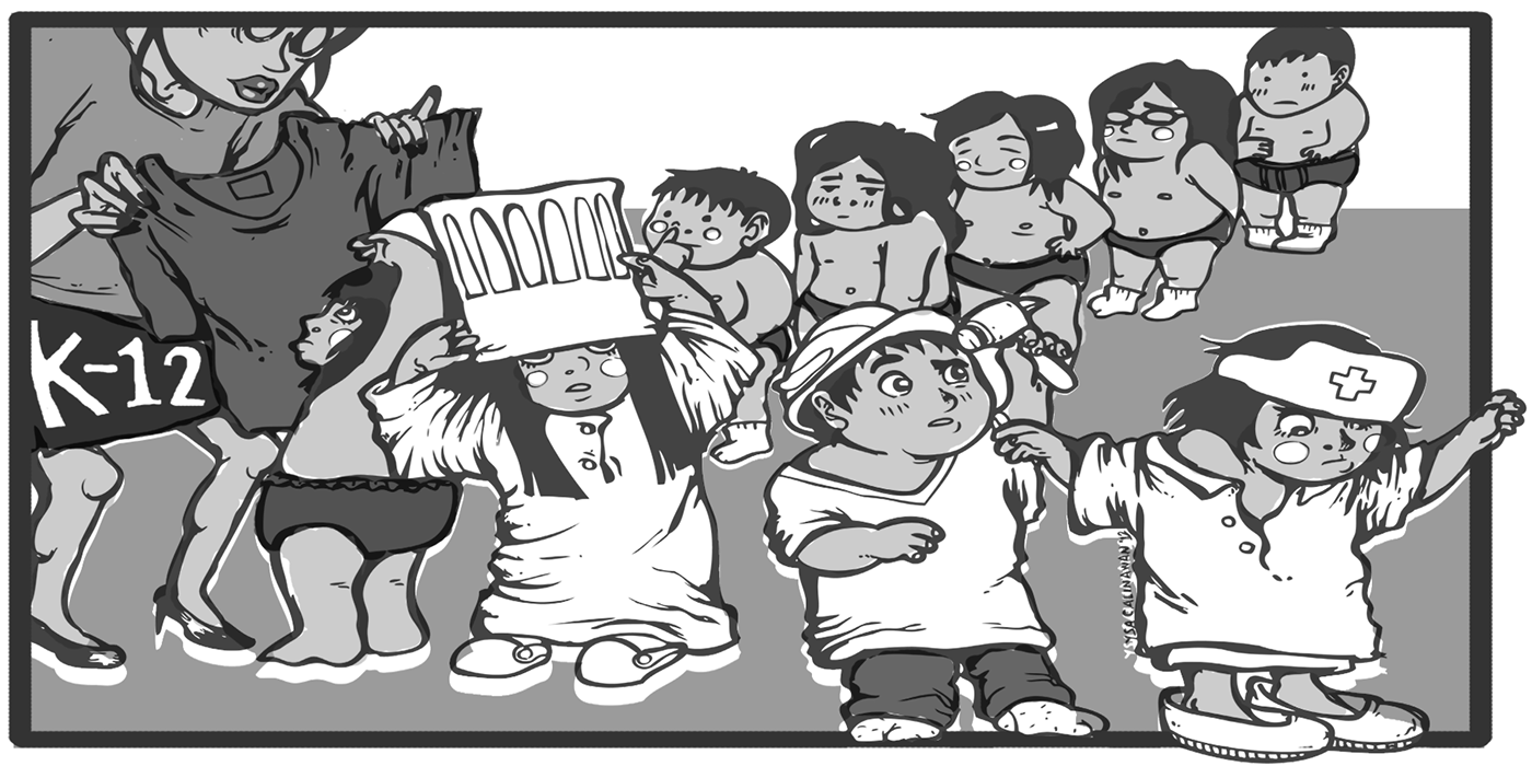 Filipino drawing cartoon. Editorial on the philippines