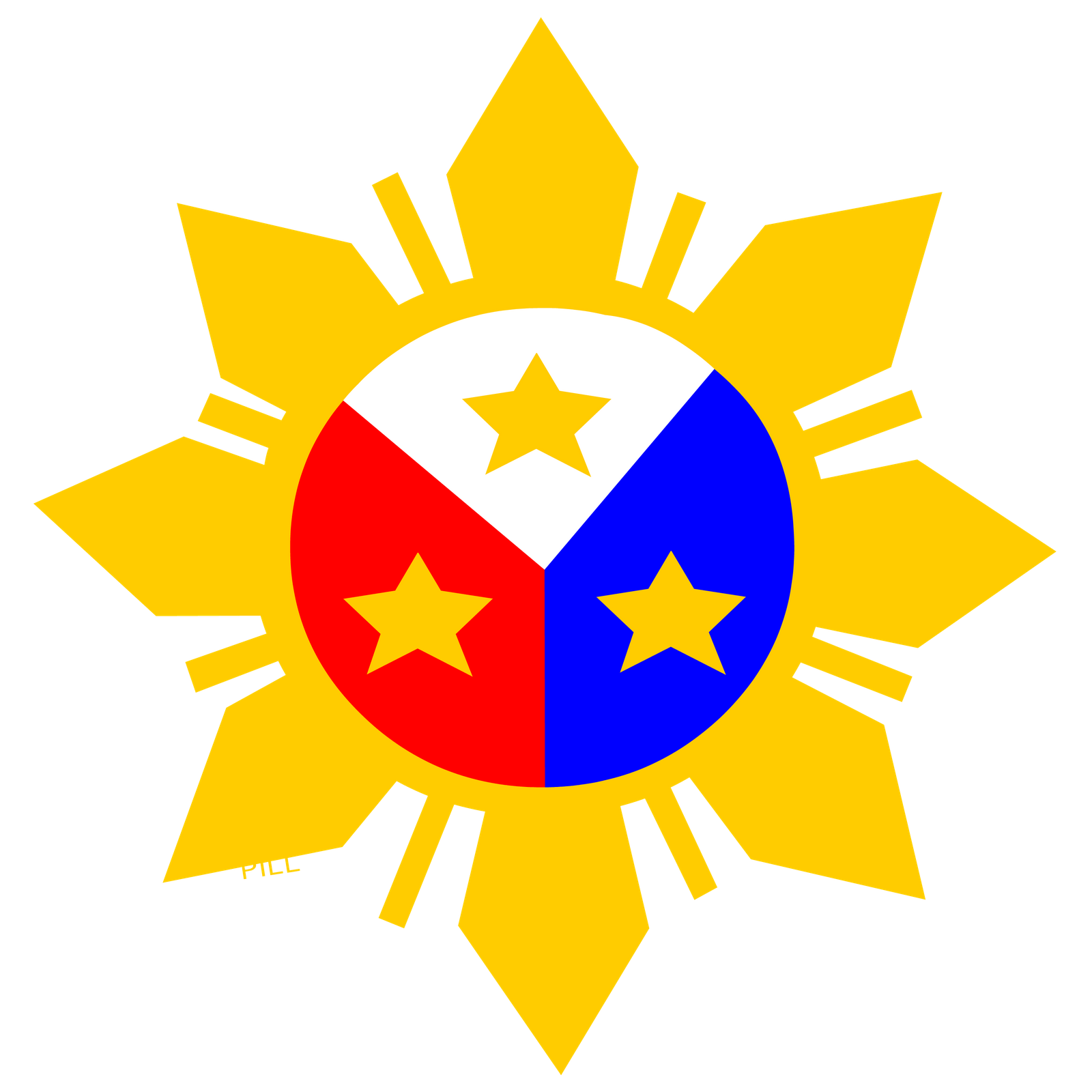 Filipino drawing sun. Collection of high