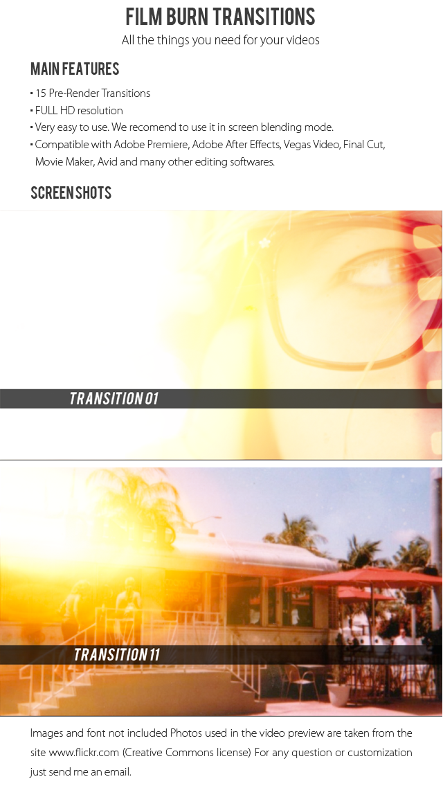Film burn png. Transitions by juan videohive