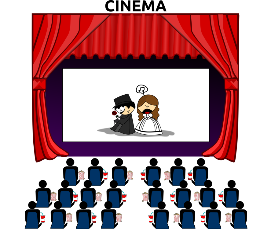 Film clipart animated movie. Cinema art cartoon free