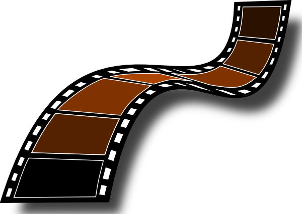 Film clipart animated movie. Group with items collection