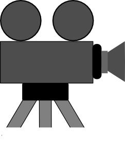 Film clipart animated movie. Camera and panda free