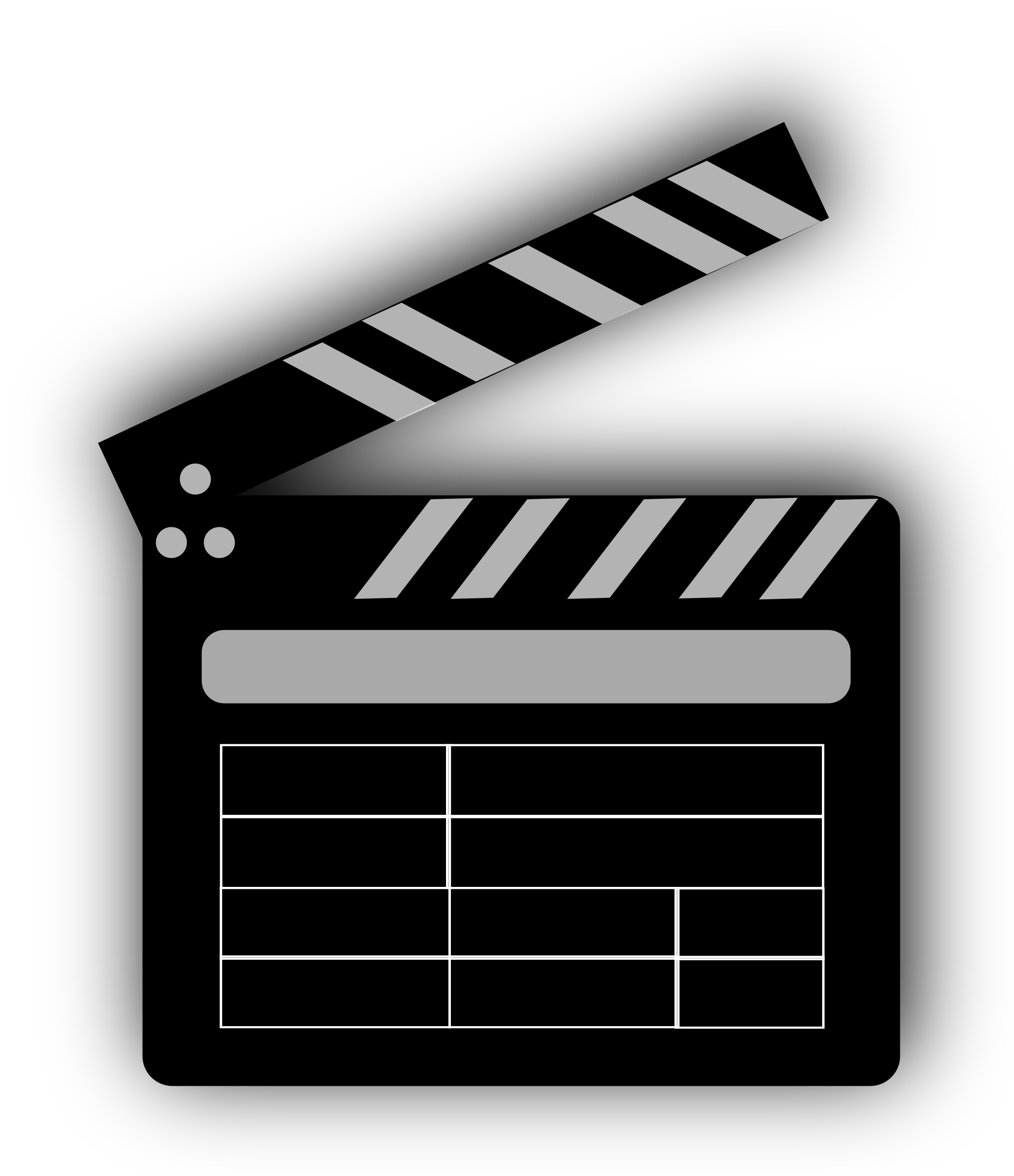 Clapperboard png transparent images. Clip cut film png black and white stock