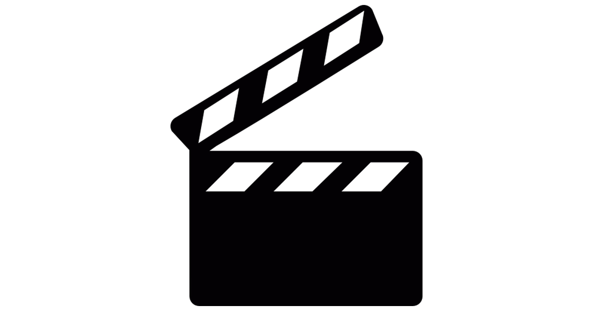 Film clipart clapper board. Clapperboard free cinema icons