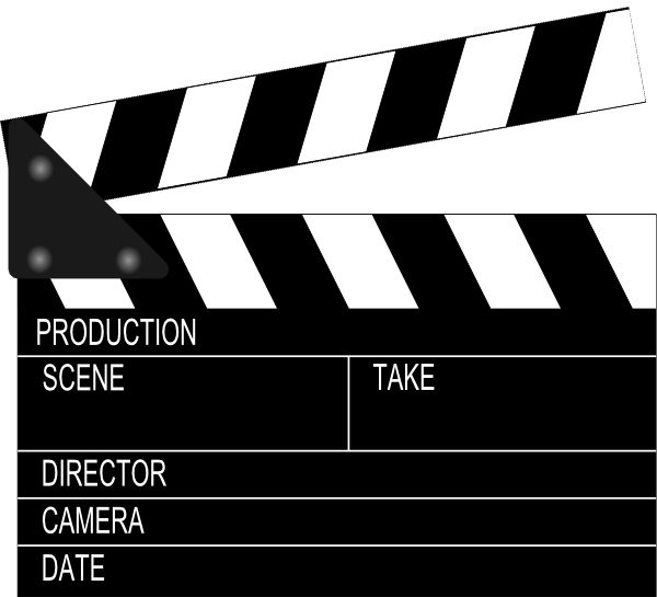 Film clipart flim. Best movie clapboards