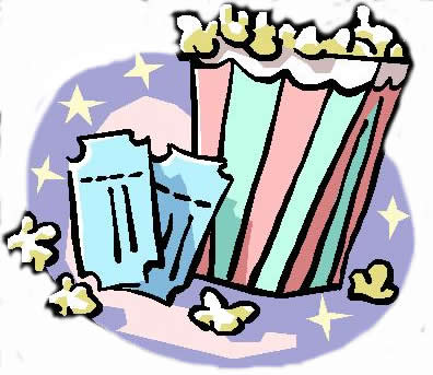 Film clipart movie concession. Theater popcorn panda free
